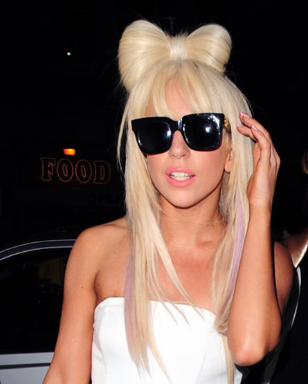 lady gaga hair bow poker face. Lady Gaga turns 24 on Sunday,