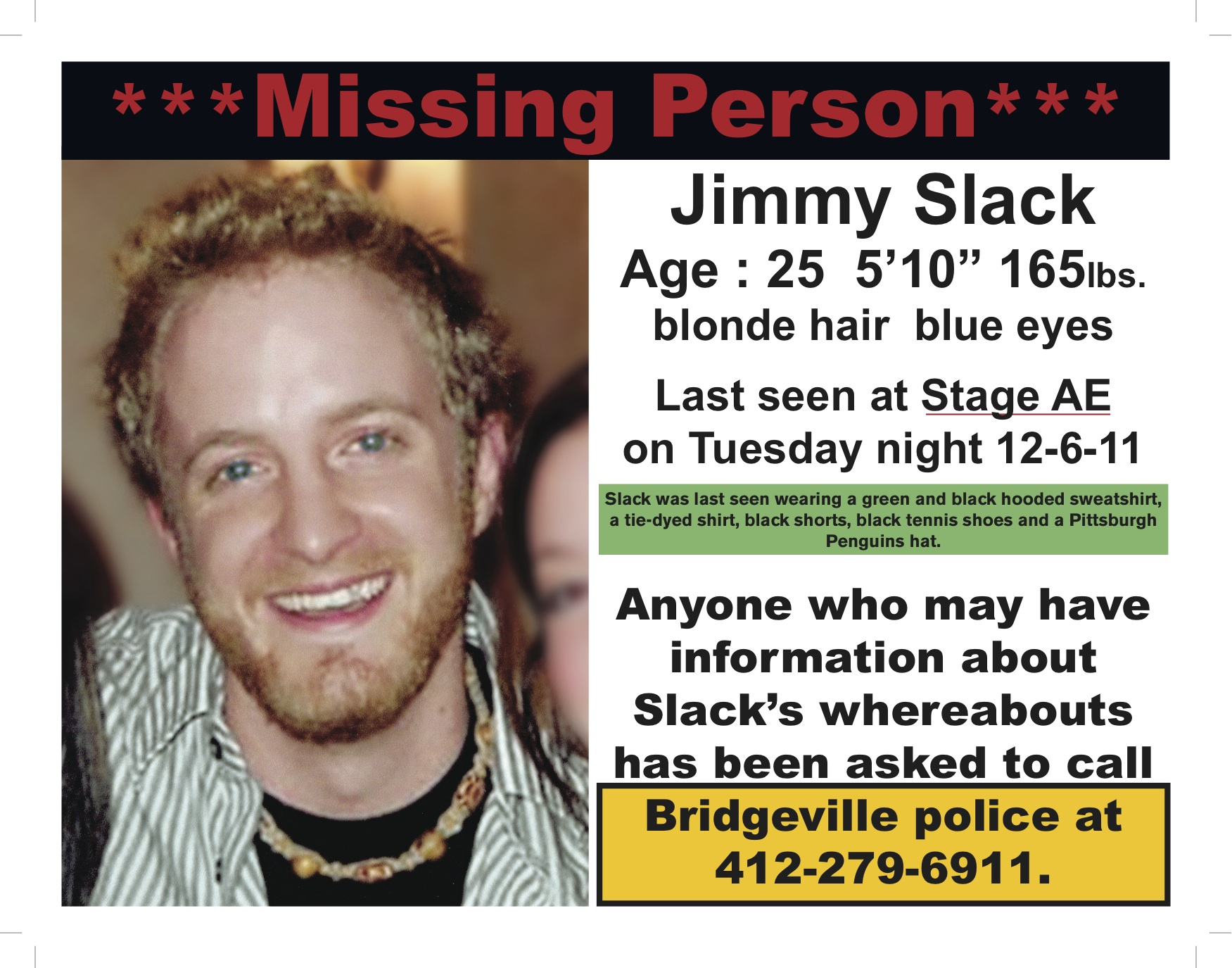 Missing Person – Missing Person Flyer